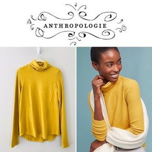 Anthro Gold Saturday/Sunday Brushed Fleece Top